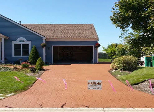 Gurnee EZprint driveway after by Kaplan Paving